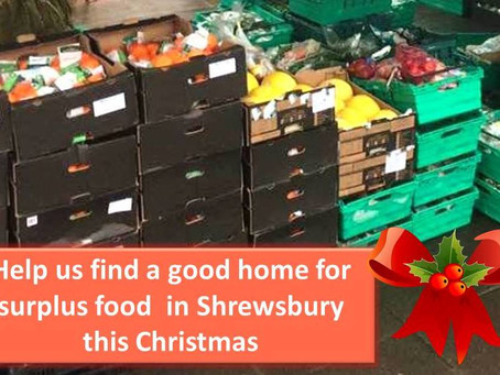 Help us find a home for free food over the Christmas Holidays