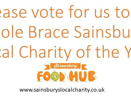 Please vote for us to be Sainsbury's Local Charity of the Year!