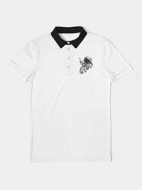 Outer Space Men's Slim Fit Short Sleeve Polo