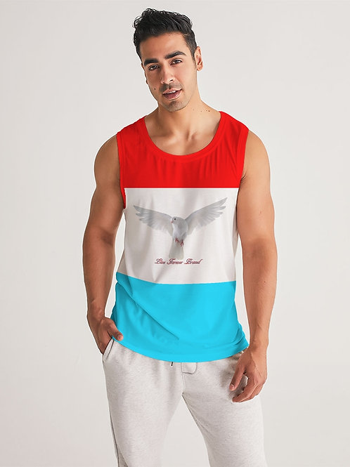 Rise Above Red/White/Blue Men's Sports Tank