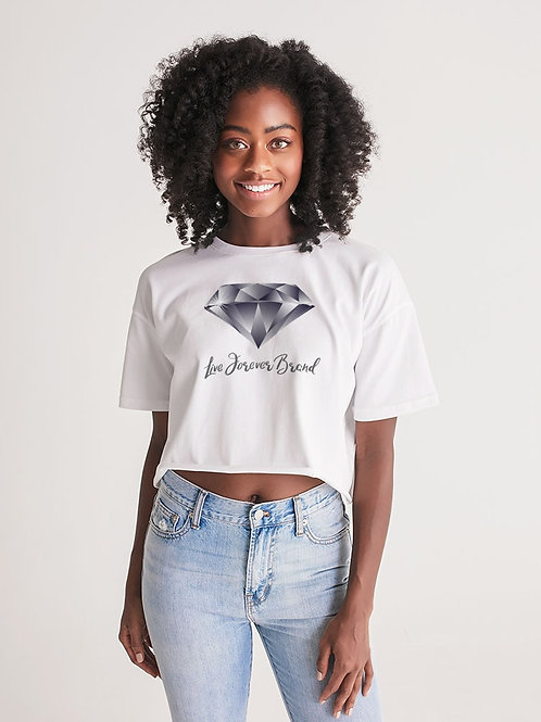 Diamond in the Rough Women's Lounge Cropped Tee