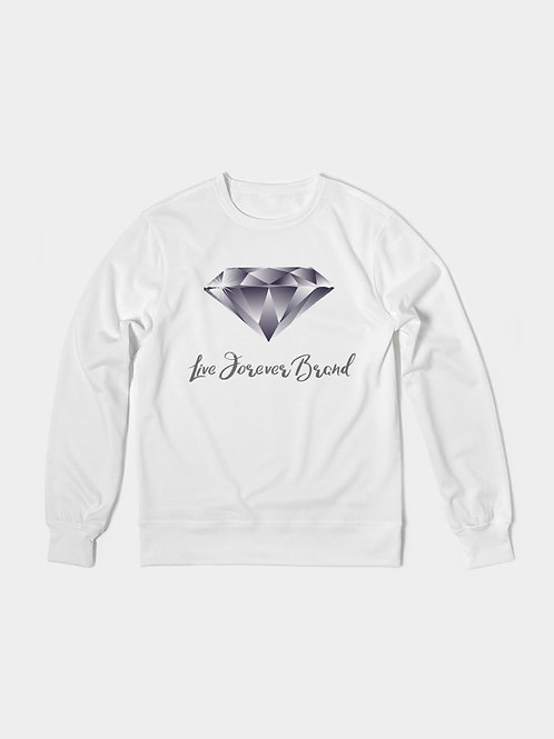 Diamond in the Rough Men's Classic French Terry Crewneck Pullover