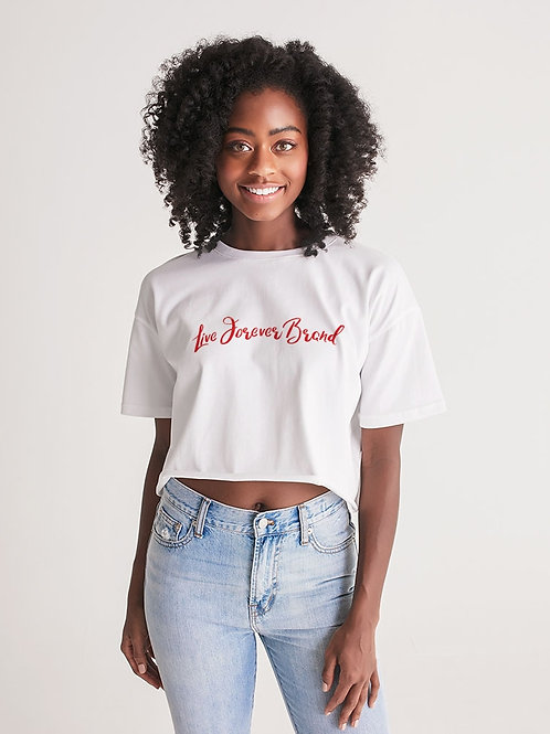 WhiteOut Women's Lounge Cropped Tee