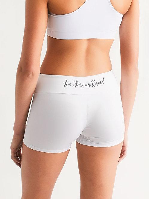 Diamond in the Rough Women's Mid-Rise Yoga Shorts