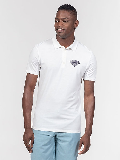Diamond in the Rough Men's Slim Fit Short Sleeve Polo