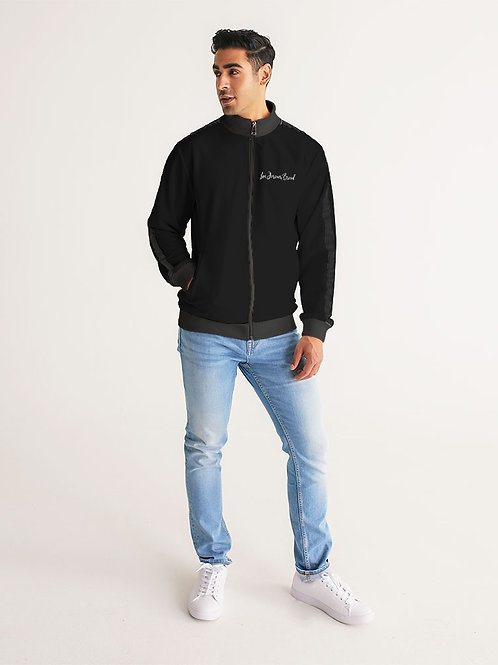 Live Forever Brand BlackOut Men's Stripe-Sleeve Track Jacket