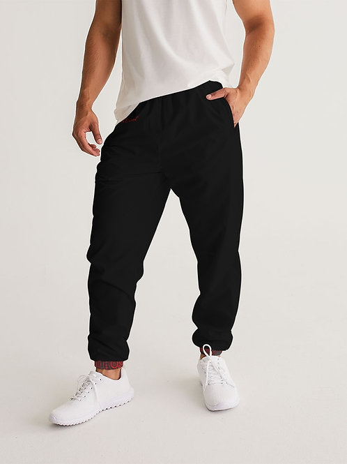 Live Forecer Brand Red and Black Paisley Men's Track Pants