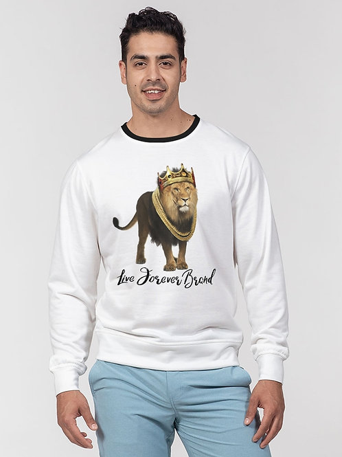 Lion King Men's Classic French Terry Crewneck Pullover
