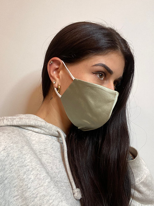 Sage Silk Mask