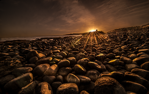 Northumberland coastal landscape workshop Trai Anfield