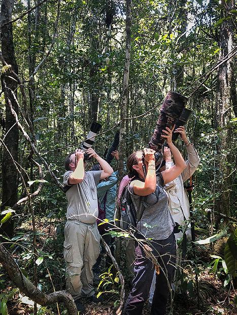 Trai, Bria, Lewin and HJ shooting lemurs