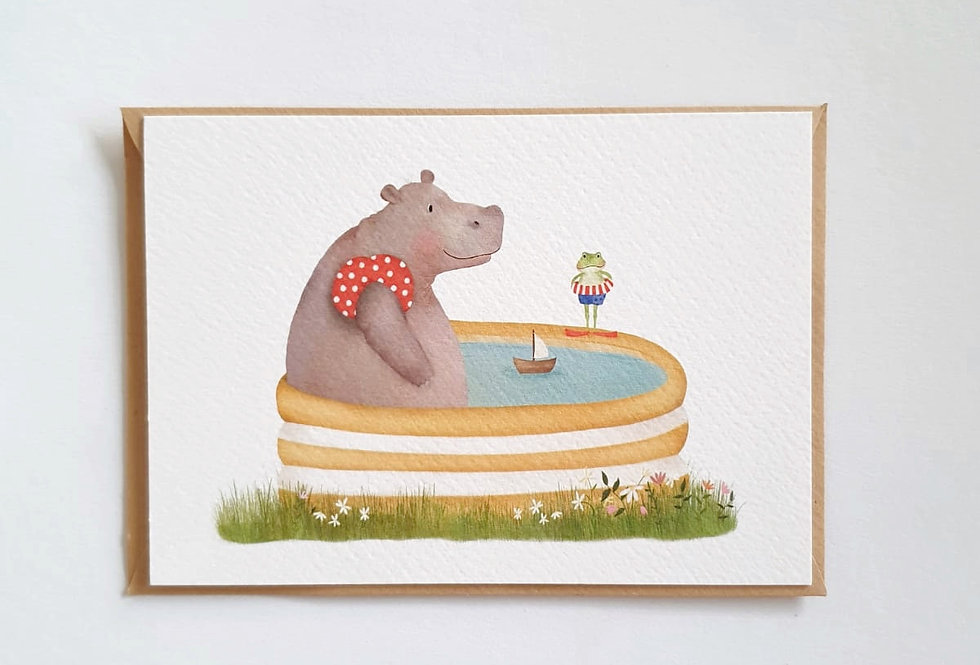 Nijlpaard in bad
