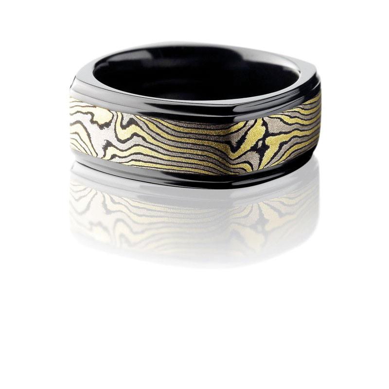 Mokume Gane (wood grain) Ring