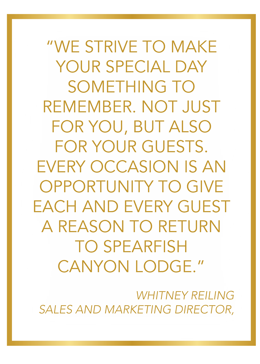 Quote from Whitney Reiling