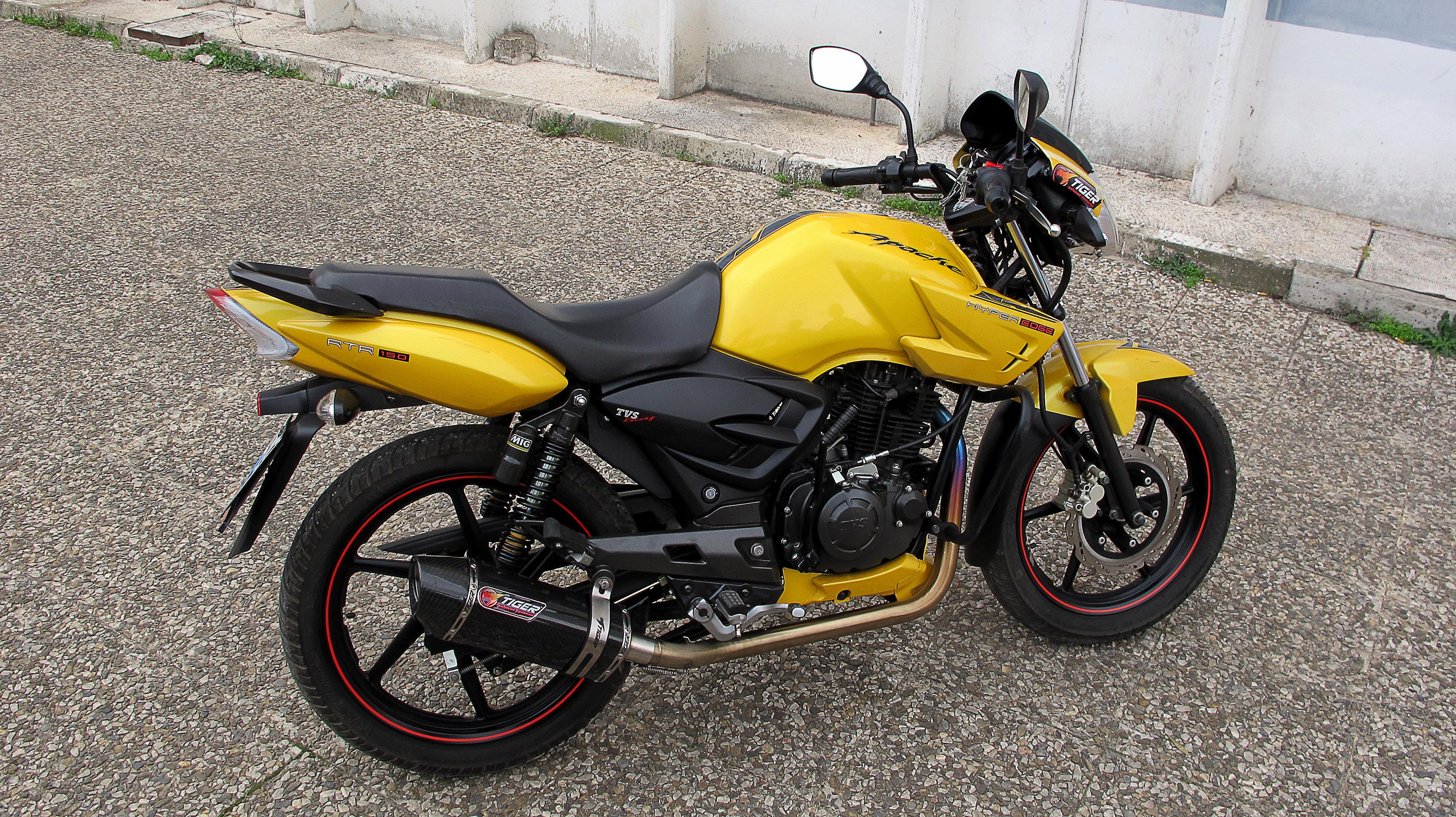 TVS Apache RTR 160 180 Exhaust