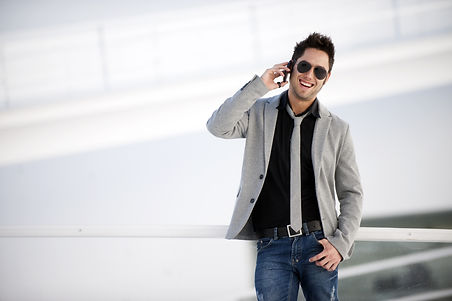 Attractive young man in urban and modern