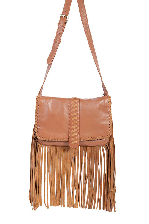 Scully Suede Fringe Leather Purse