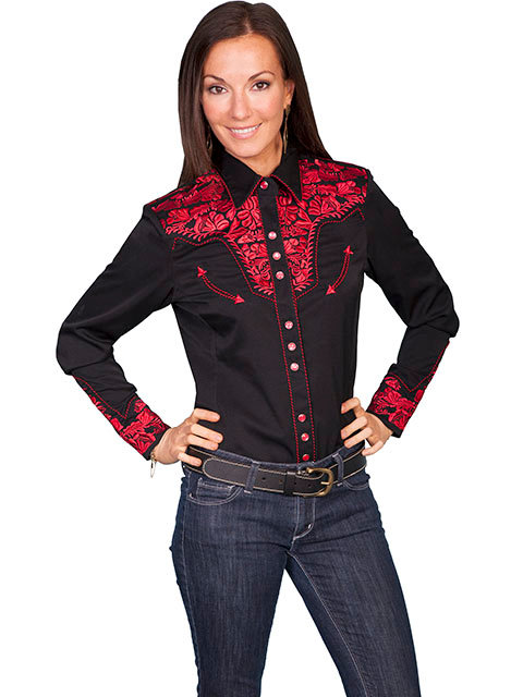 Scully Western Legends Shirt Snap Front Blouse