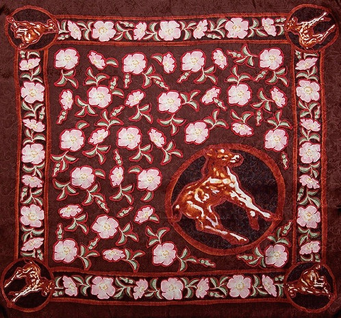 Colts and Roses Limited Edition Silk Scarf