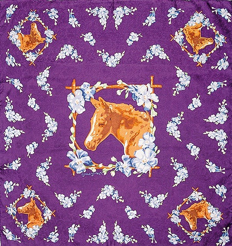 Filly Midnight Limited Edition Silk Scarf