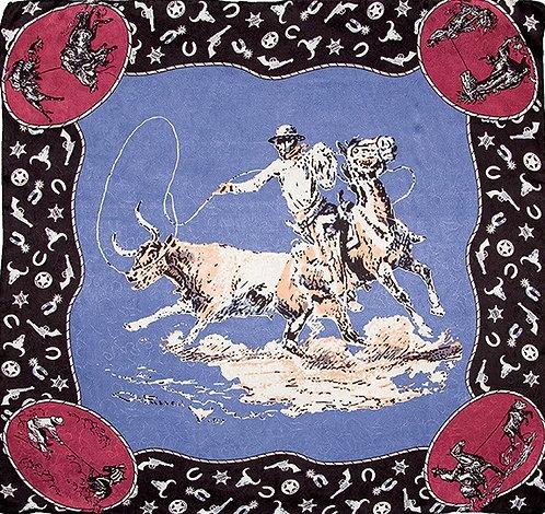 CM Russel Slate Blue Limited Edition Silk Scarf