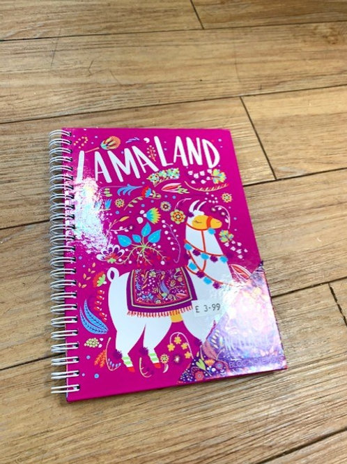 Pink Lama Land A5 Notebook