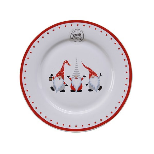 Porcelain Side Plate with Gonks and Star Edging