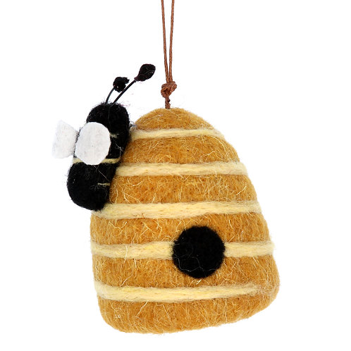 Gisela Graham Wool Mix Beehive Hanging Easter Decoration