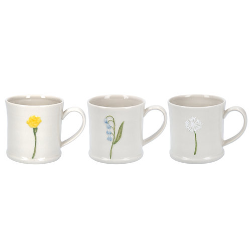Gisela Graham Ceramic Flower Mini Mug - Bluebell