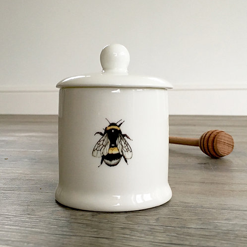 Toasted Crumpet Bee Honey Pot Set
