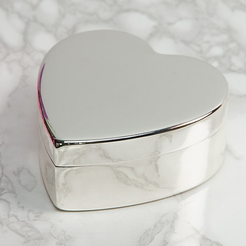 Sophia Silver Plated Heart Shaped Trinket Dish