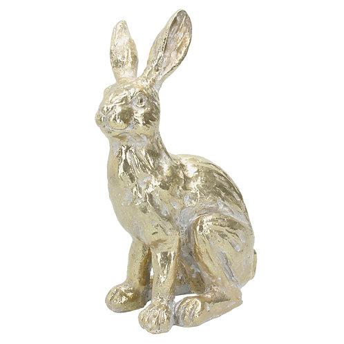 Gisela Graham Gold Resin Rabbit Ornament 28cm