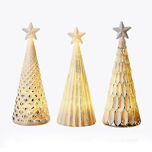Light Up Gold and White Tree - Hexagons