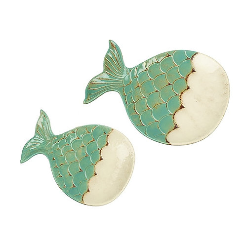 Heaven Sends Ceramic Set of 2 Fish Plates