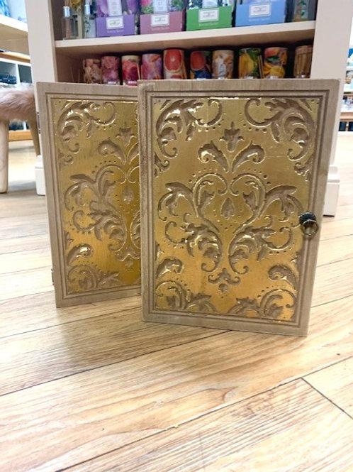 Gisela Graham Gold Leaf Key Cupboard