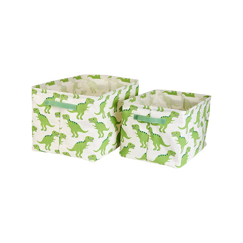 Sass and Belle Roarsome Dinosaurs Canvas Storage Baskets Set of 2