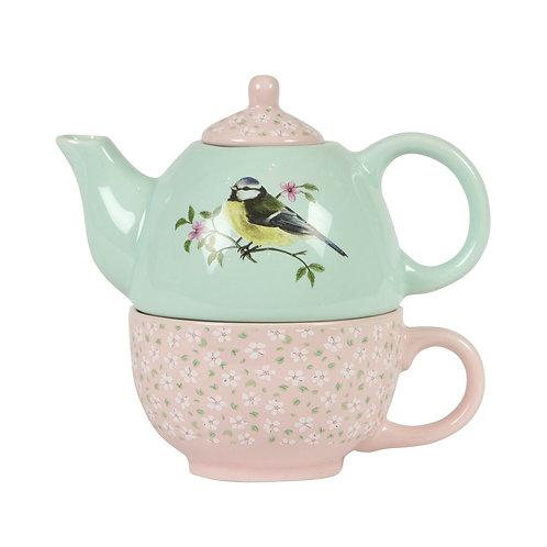 Sass & Belle Garden Birds Teapot for One