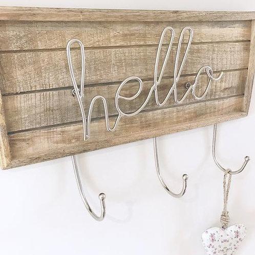 Hello Wooden Hanger
