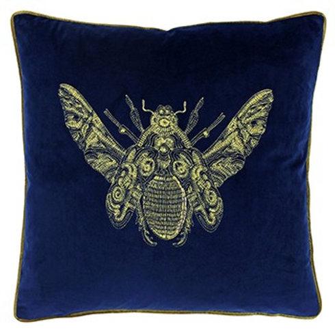 Cerana Moth Cushion in Royal Blue by Riva Home 50x50cm