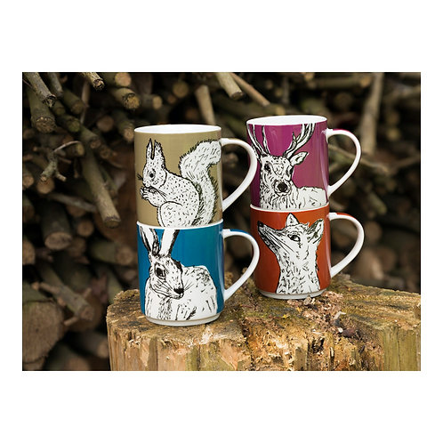 Into The Wild Set of 4 Stacking Mugs