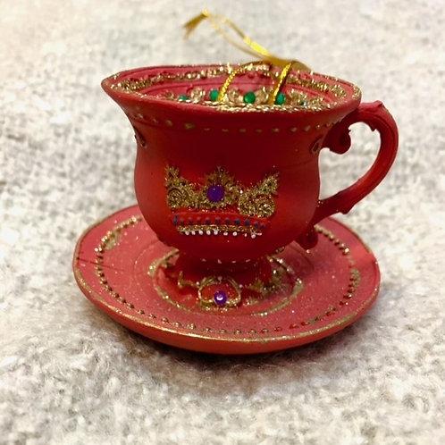 Gisela Graham Red Resin Teacup