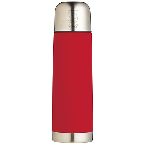 Colourworks Stainless Steel Vacuum Flask - Red