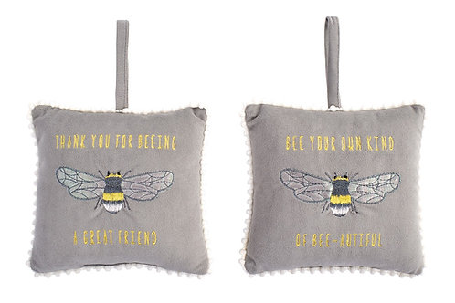"Bee-utiful Cushion Hanger - ""Be Your Own Kind of Bee-utiful"""