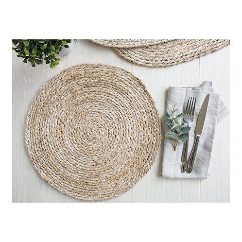 Wovan Bulrush Placemat - White