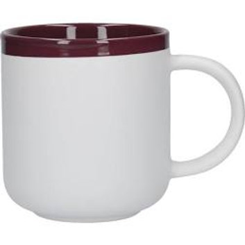 La Cafetiere Barcelona Plum Ceramic 450ml Latte Mug