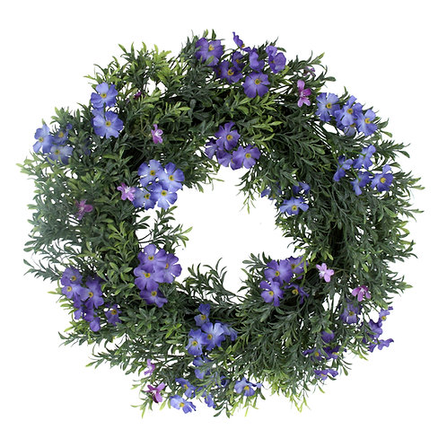 Gisela Graham Faux Forget Me Not Wreath