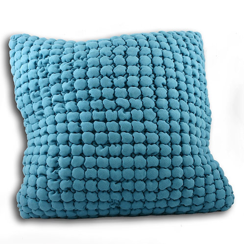 Cubic Large Square Kingfisher Blue Cushion 55cm x 55cm by Riva Home