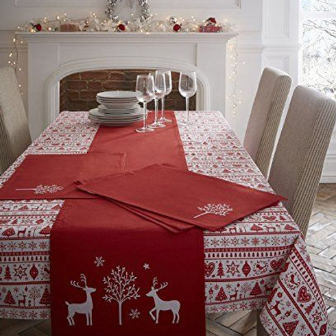 Yuletide Placemat - Red