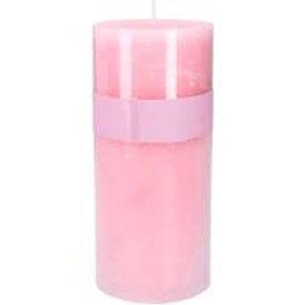 Gisela Graham Rose Pink 20cm Pillar Candle