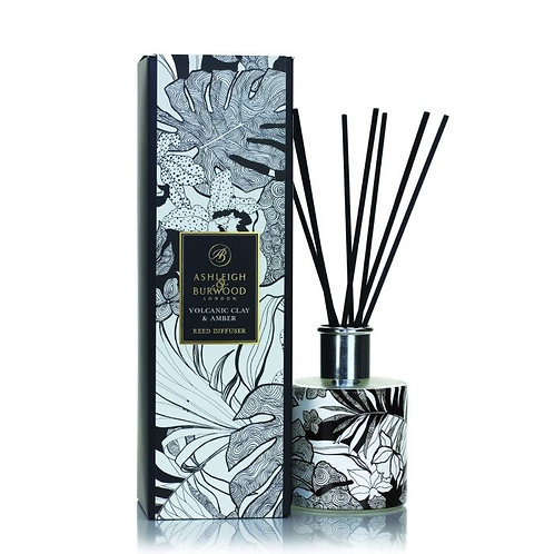 The Design Anthology - Reed Diffuser - Botanical Retreat - Volcanic Clay & Amber